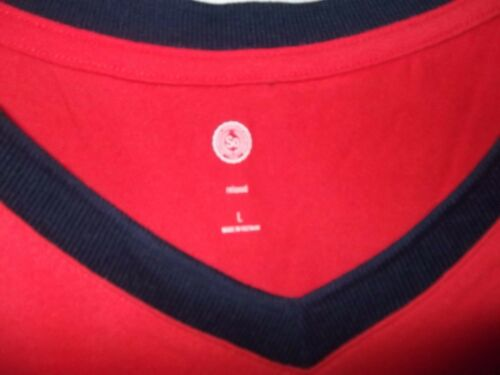 RED // NAVY SIZE LARGE - WOMEN AC-25-409x2 S.O T-SHIRT