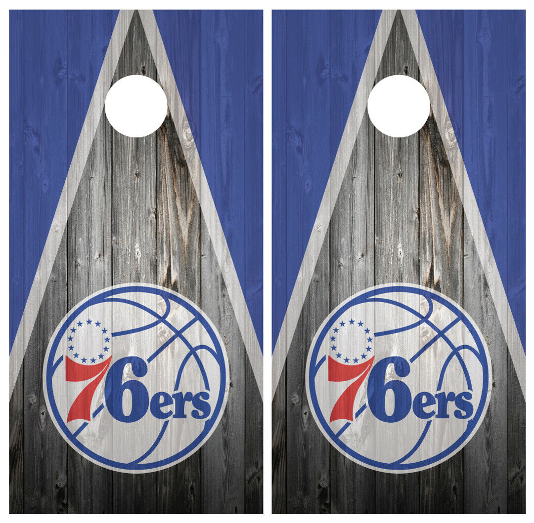 Philadelphia 76ers Cornhole Board Wraps  Skins Vinyl Laminated HIGH QUALITY   new exclusive high-end