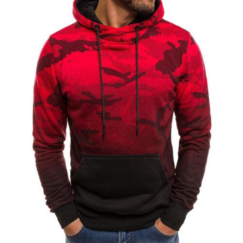 Men/'s Fall Winter Slim Hoodie Warm Hooded Sweatshirt Coat Jacket Outwear Sweater