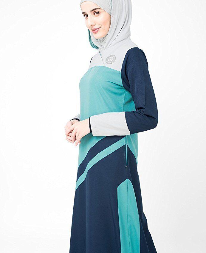Asian Colour Stripe Jilbab Sporty design Maxi Summer full sleeve - 56 slim