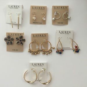 Image Is Loading Ralph Lauren Earrings Group 1 Select Your Favorite