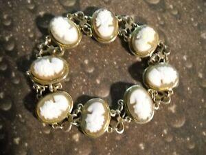 925-Sterling-Silver-Cameo-Link-Bracelet