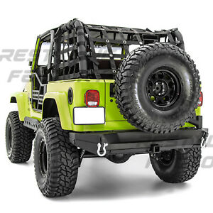 Image Is Loading Rock Crawler Rear Bumper Tire Carrier Tailgate Hitch