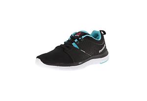 Reebok Women s ZQuick Dash Running Shoes Size 10 Black Neon Blue ... 73f6b117d