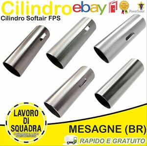 CILINDRO-SOFTAIR-IN-ACCIAIO-INOX-LAVORATO-IN-CNC-AIRSOFT-CYLINDER-FPS