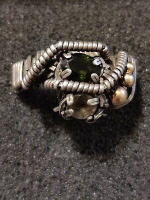 vintage modernist designed statement ring sz 10 r9129 925 sterling silver