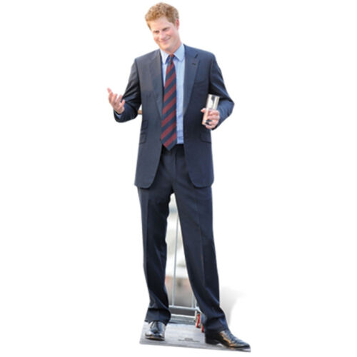 PRINCE HARRY of Wales Royals Lifesize CARDBOARD CUTOUT Standee Standup Poster