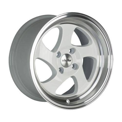 20 White//Machined Lip Wheel One 15x8 Whistler KR1 4x100