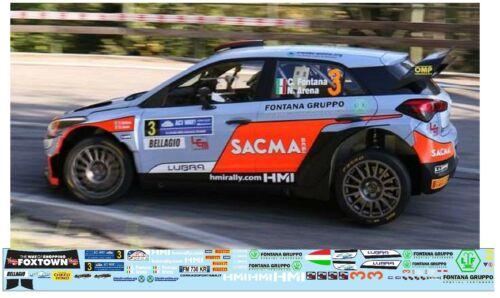 HYUNDAI I20 WRC Fontana C Rally Como  2018 DECALS 1//43