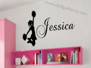 Cheerleader-Personalized-Vinyl-Wall-Art-Decal