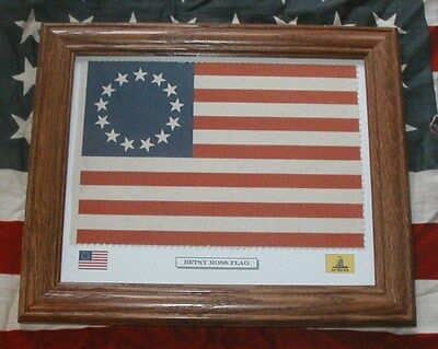 Betsy Ross Stick Flag 12x18in 1776-13 Stars Colonial America Flag