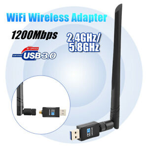 1200Mbps 2.4G//5.8GHz Wireless USB Dual Antennas Networking Adapter Card Wifi Receiver 1200Mbps Networking Networking Adapters /& Antennas - - 1 1200Mbps Wireless USB Network Card