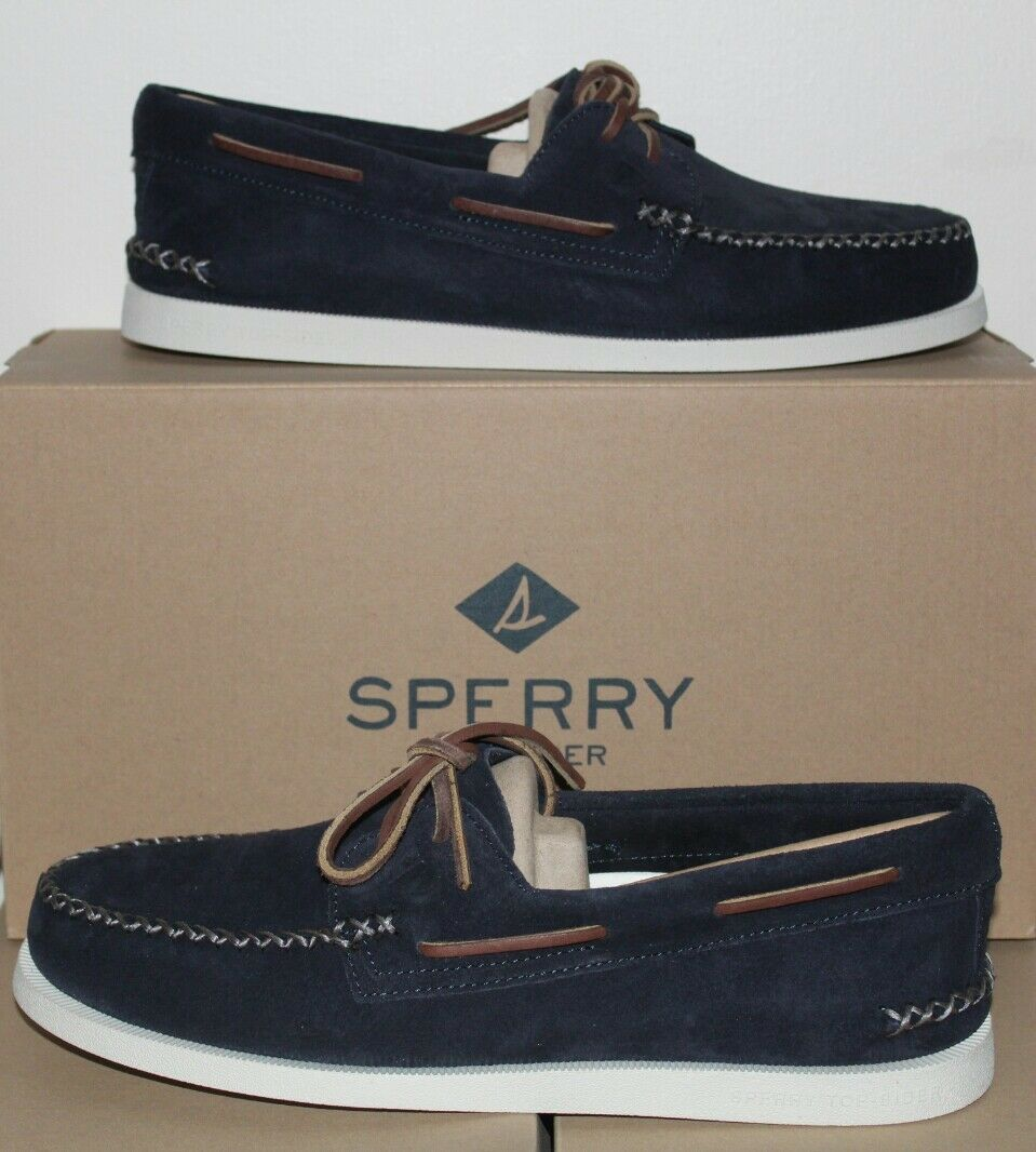 sperry top sider A/O Wedge Suede Navy STS15142