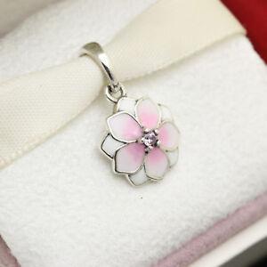 6c42658c3f631 Details about * Authentic Pandora Magnolia Bloom Enamel CZ Pendant  792086PCZ Flower Dangle