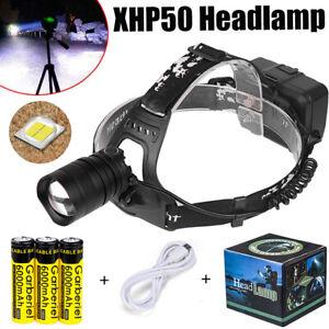 Super-bright-950000LM-XHP50-Zoom-T6-LED-Headlamp-Headlight-Flashlight-Head-Torch