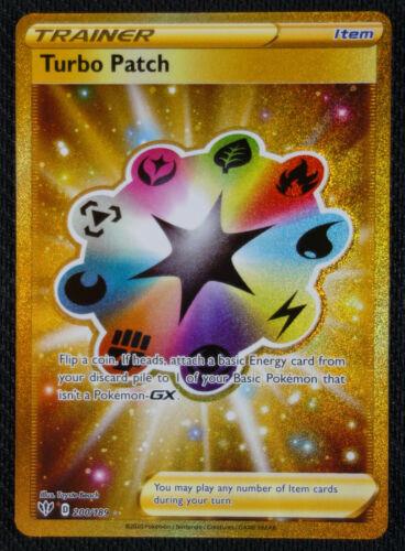 Pokemon Card Turbo Patch 200//189 Secret Rare Darkness Ablaze NM//M