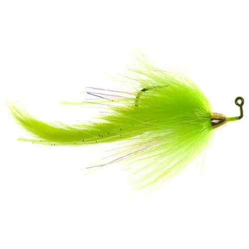 Chartreuse 1//0 Meat Whistle Bass Fly by Umpqua