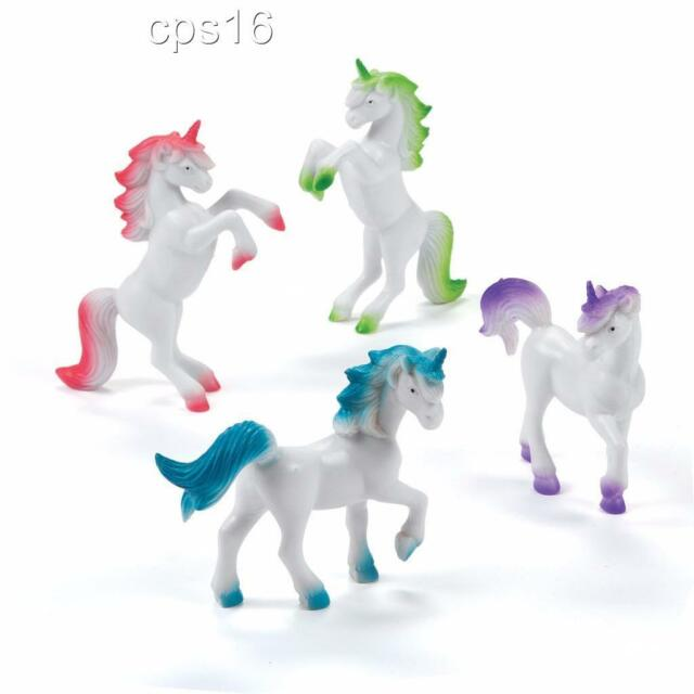 12 x Unicorn Figurines...Party Favours...Loot Bag...Birthday Cake Topper