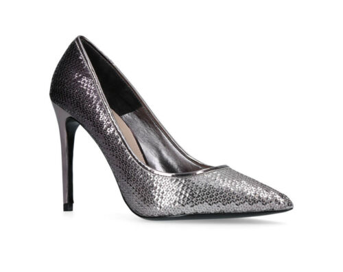 scarpe Kurt tacco alto albicocca Designer Argento Uk Geiger 40 Eu Carvela 7 Sa7dqXX