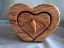 Schubladen Kasten / Dose Herz Olivenholz Holz Olivenöl Baum 16 x 13 x 8 cm