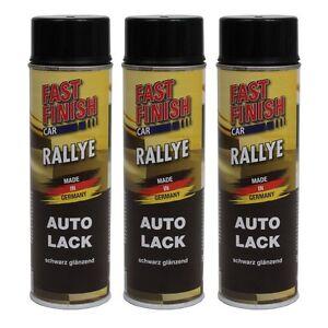 3x-500-ml-Fast-Finish-Lackspray-schwarz-glaenzend-Lack-Autolack-292835