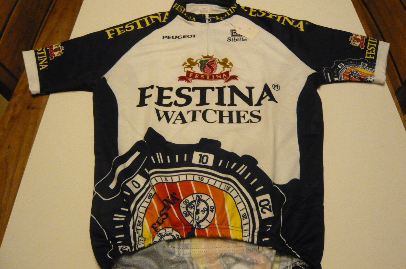 Festina Watches Cycling Jersey Made In  Size 3 NOS