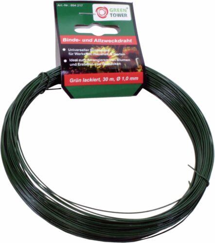 Canutillos encuadernar verde lacados allzweckdraht 1 mm x 30 m basteldraht alambre