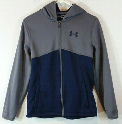 Boy/'s Youth Under Armour Storm Coldgear Loose Fit Full Zip Hoodie