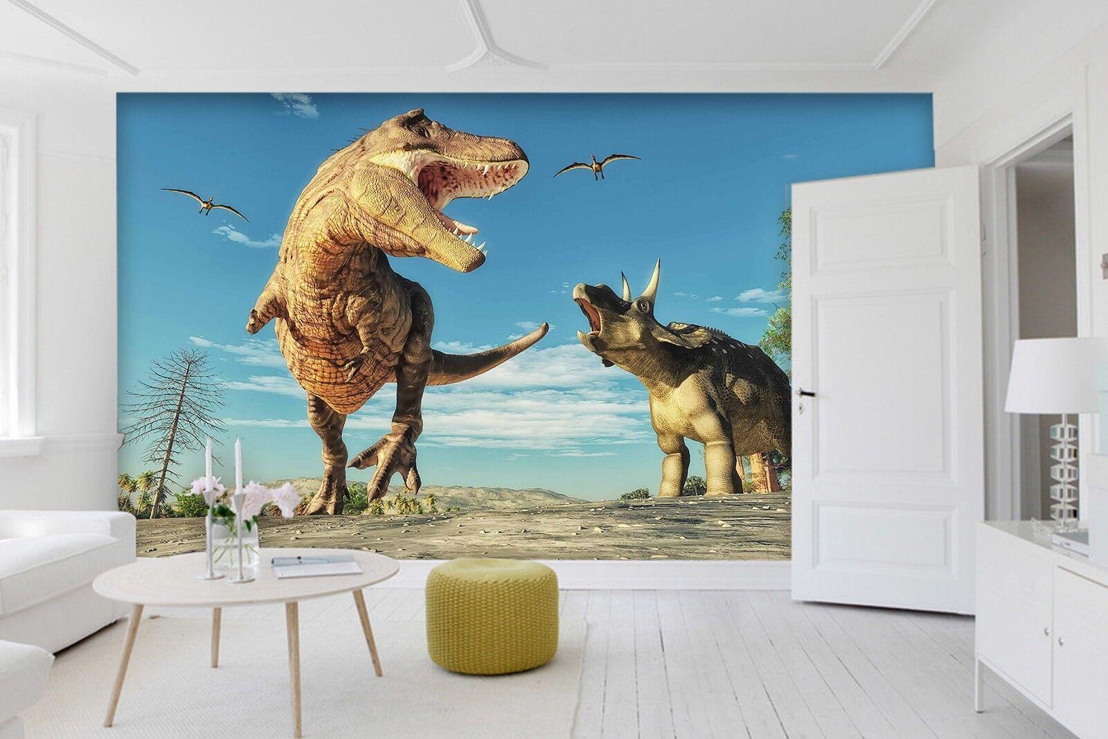 3D Dinosaur Century 23 Wallpaper Mural Print Wall Indoor Wallpaper Murals UK