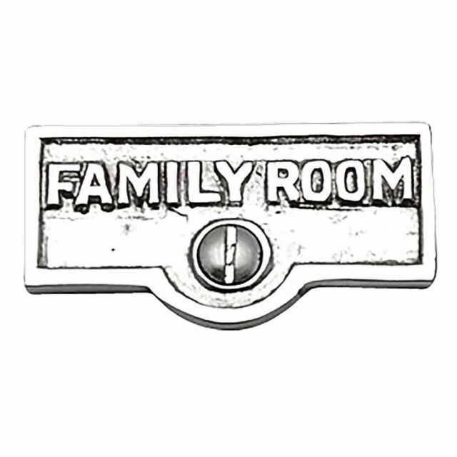 Switch Plate Tags Family Room Name Signs Label Chrome Brass Renovator S Supply For Sale Online