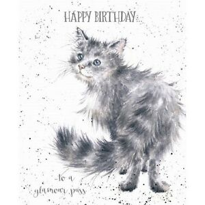 Wrendale designs happy birthday greeting card new cat to a glamour image is loading wrendale designs happy birthday greeting card new cat m4hsunfo