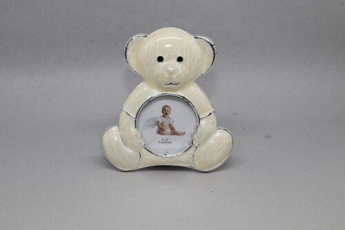 "photo 2/"" x 2/"" Unisex Ivory// Cream Teddy Bear Picture Frame,"