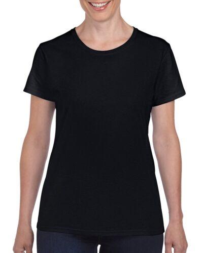 Colours Gildan Heavy Cotton Ladies T Shirt Top Womens Girls Plain All Sizes