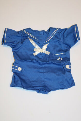 Cabbage Patch Kids Modern PA Boy/'s Blue Sailor Romper Outfit 16in~Cute!