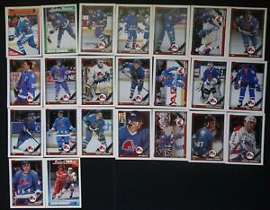 1991-92-Topps-Quebec-Nordiques-Team-Set-of-23-Hockey-Cards