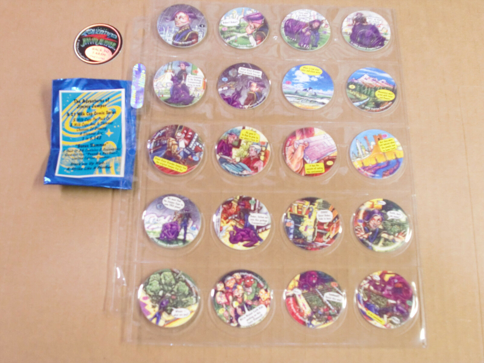 POGS JIMMY JUMPER BY S.G.I. COMPLETE SET of ALL 21  and WRAPPER RARE