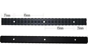 25-Slots-257mm-Long-20mm-Picatinny-Rail-Base-Adapter-Mount-For-Rifle-Scope-Black