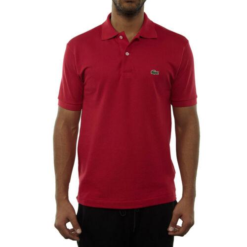 Lacoste Men/'s Polo Shirt Top T-Shirt L.12.12 Persian Red 100/% Cotton RRP £75