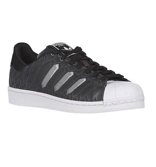 quality design 4b24f b448c adidas Originals Superstar CTXM Chromatech Shoes Black White AQ7841 Size 11   eBay