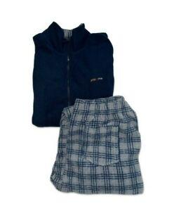 Pigiama Uomo Invernale Caldo Morbido Pile Completo Maglia Pantaloni M L XL XXL