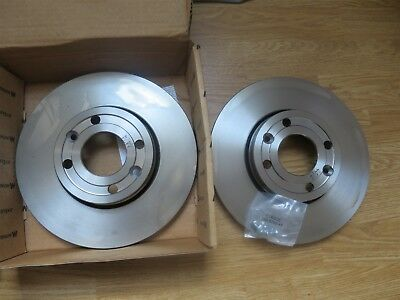 2x Brake Discs Vented fits NISSAN TIIDA C11 1.6 Front 07 to 11 HR16DE Set Pair