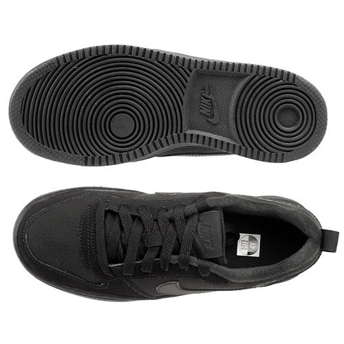 839985-001 Black//Black Sizes 4-7 New In Box GS Nike Court Borough Low Big Kids