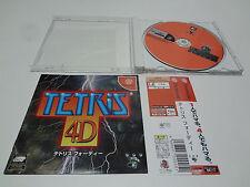 Tetris 4D w/spine Sega Dreamcast Japan
