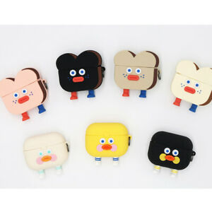 Cute-Brunch-Brother-Toast-Duck-Air-Pod-Pro-Silicone-Case-Protective-Cover-Skin