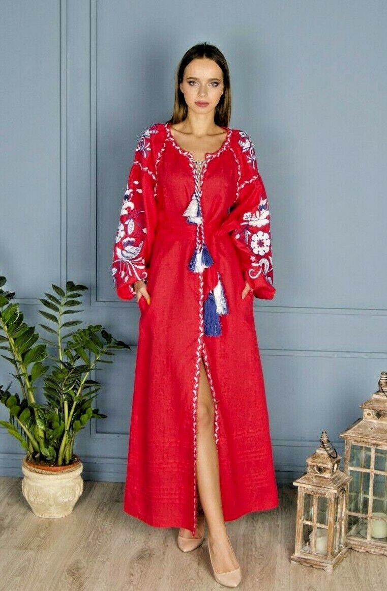 Vestido Vestido.  Bordado Vyshyvanka ucraniana. Regalo Para Ella. Regalo para Niña, Vita Kin  al precio mas bajo