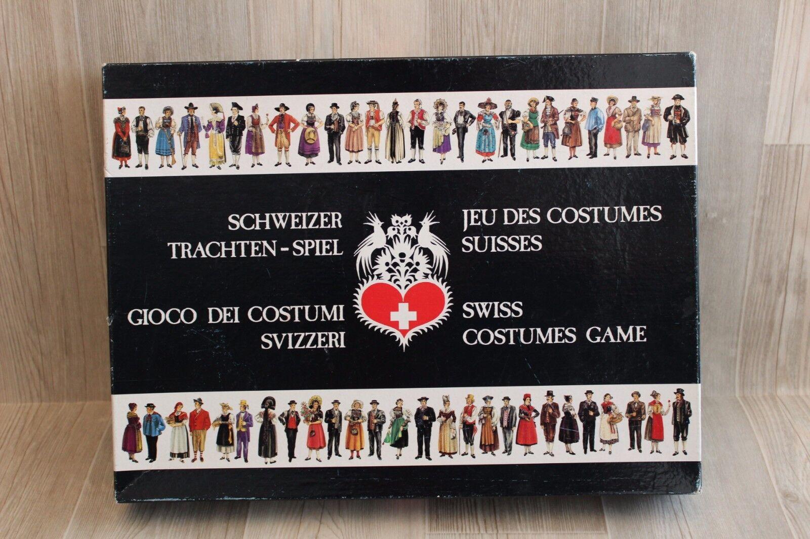Rare   Jeu des Costumes Suisses - Swiss Costumes Game - Schweizer Trachten