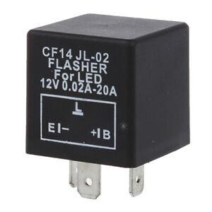 Blinkrelais-3PIN-Blinker-Relais-Blinkerrelais-fuer-LED-Blinker-E-L-B-Typ-12-8-SS