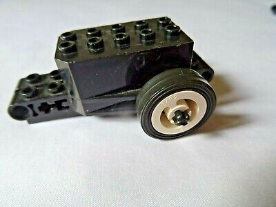 LEGO Lot of 2 Black and Light Gray Pull Back Action Motor Car Bases