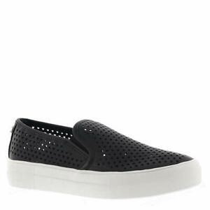 Steve-Madden-Gal-P-Black-Women-039-s-Perf-Slip-On-Loafer-Shoes