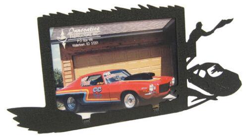Race Car 3x5H Black Metal Picture Frame